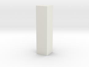 Rectoid in White Natural Versatile Plastic