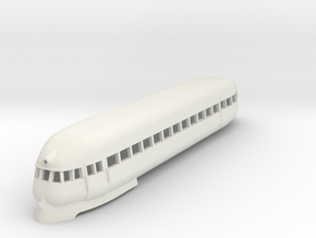 1/87 PULLMAN RAILPLANE CAR in White Natural Versatile Plastic