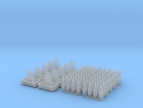 1:35 Quart Oil Bottles and Crates - 10ea in Smooth Fine Detail Plastic