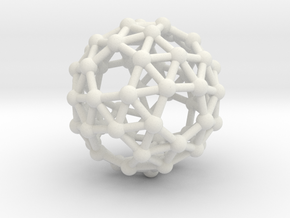 Snub Dodecahedron (left-handed) in White Natural Versatile Plastic
