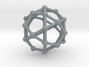 Icosidodecahedron in Polished Metallic Plastic