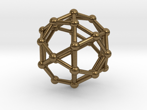 Icosidodecahedron in Natural Bronze