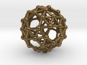 Snub Dodecahedron (left-handed) in Natural Bronze