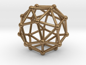 Snub Cube (left-handed) in Natural Brass