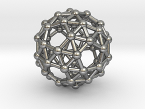 Snub Dodecahedron (right-handed) in Natural Silver