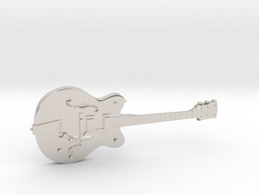 Big Old Style Hollow Body Guitar 1:18 in Platinum