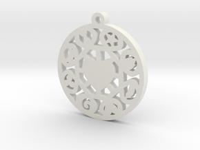 The Wheel of Time Pendant - By Celeste in White Natural Versatile Plastic