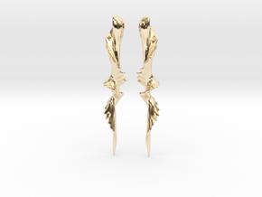 Temporal Twist Drop Earrings in 14K Yellow Gold
