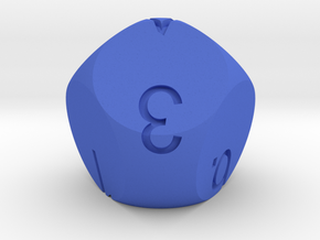 D7 numbered from 0 to 6 in Blue Strong & Flexible Polished