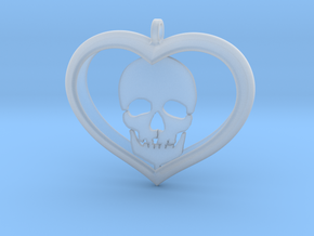 Skull Heart (2) in Smooth Fine Detail Plastic