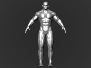 Strong Man in White Natural Versatile Plastic