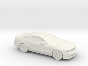 1/87 2007 Ford Mustang in White Natural Versatile Plastic