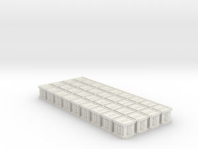 Dice / Crates (36 pcs) in White Natural Versatile Plastic