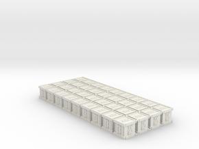 Dice / Crates (36 pcs) in White Natural Versatile Plastic