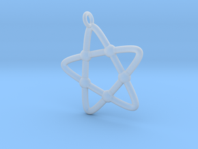 Hypotrochoid Star Pendant in Smooth Fine Detail Plastic
