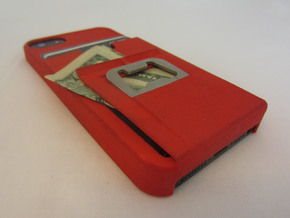 iphone 5 tank case with bottle opener, clip, walle in White Strong & Flexible