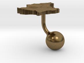 Luxembourg Terrain Cufflink - Ball in Natural Bronze