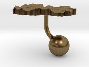 Macedonia Terrain Cufflink - Ball in Natural Bronze