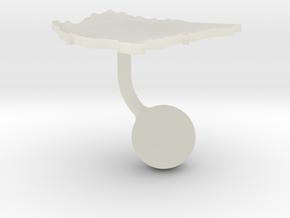 Nicaragua Terrain Cufflink - Ball in Transparent Acrylic