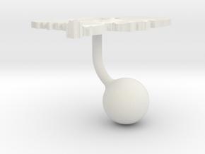 Netherlands Terrain Cufflink - Ball in White Natural Versatile Plastic