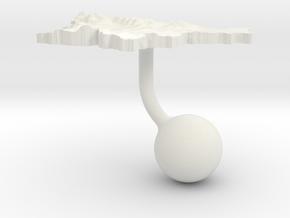 Slovenia Terrain Cufflink - Ball in White Natural Versatile Plastic