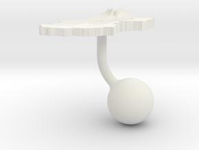 Chad Terrain Cufflink - Ball in White Natural Versatile Plastic
