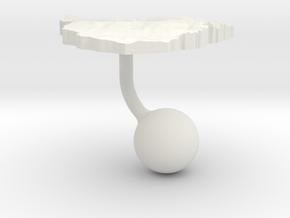 Zimbabwe Terrain Cufflink - Ball in White Natural Versatile Plastic