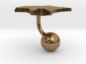 Estonia Terrain Cufflink - Ball in Natural Brass