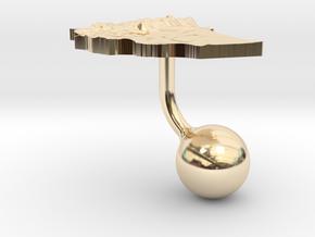 Ethiopia Terrain Cufflink - Ball in 14K Yellow Gold