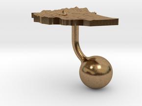 Ethiopia Terrain Cufflink - Ball in Natural Brass