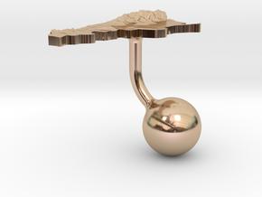 Argentina Terrain Cufflink - Ball in 14k Rose Gold