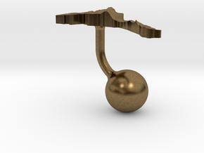 Eritrea Terrain Cufflink - Ball in Natural Bronze