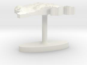 Montenegro Terrain Cufflink - Flat in White Natural Versatile Plastic