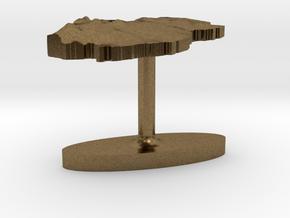 Qatar Terrain Cufflink - Flat in Natural Bronze