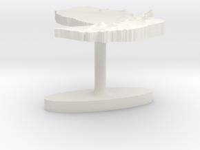 Paraguay Terrain Cufflink - Flat in White Natural Versatile Plastic