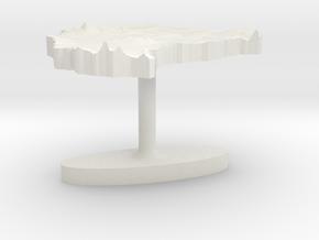 Sudan Terrain Cufflink - Flat in White Natural Versatile Plastic