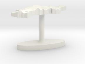 Denmark Terrain Cufflink - Flat in White Natural Versatile Plastic