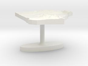 Algeria Terrain Cufflink - Flat in White Natural Versatile Plastic
