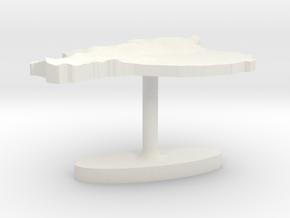 Ecuador Terrain Cufflink - Flat in White Natural Versatile Plastic