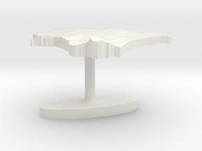 Estonia Terrain Cufflink - Flat in White Natural Versatile Plastic