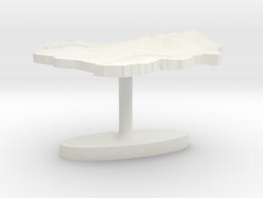 Indonesia Terrain Cufflink - Flat in White Natural Versatile Plastic