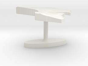 Kuwait Terrain Cufflink - Flat in White Natural Versatile Plastic