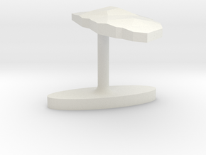 Aruba Terrain Cufflink - Flat in White Natural Versatile Plastic