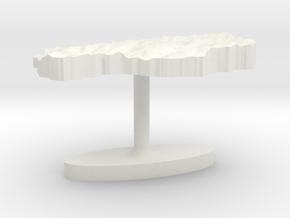 Lesotho Terrain Cufflink - Flat in White Natural Versatile Plastic