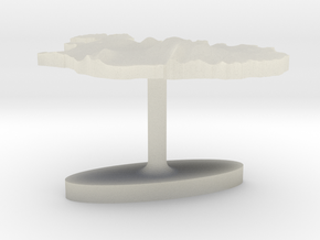 Iceland Terrain Cufflink - Flat in Transparent Acrylic