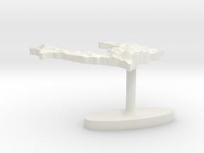Haiti Terrain Cufflink - Flat in White Natural Versatile Plastic