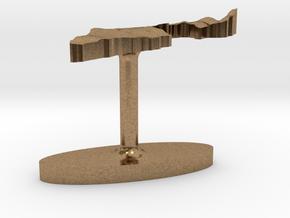 Israel Terrain Cufflink - Flat in Natural Brass