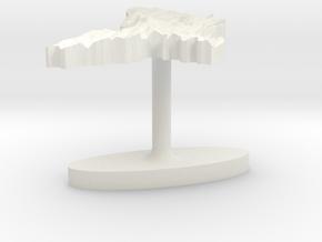 Moldova Terrain Cufflink - Flat in White Natural Versatile Plastic