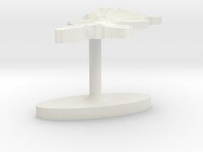 Tunisia Terrain Cufflink - Flat in White Natural Versatile Plastic