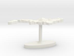 Japan Terrain Cufflink - Plate in White Natural Versatile Plastic